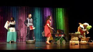 """Imaxe da obra de teatro """"Lela anda en bicicleta"""""""