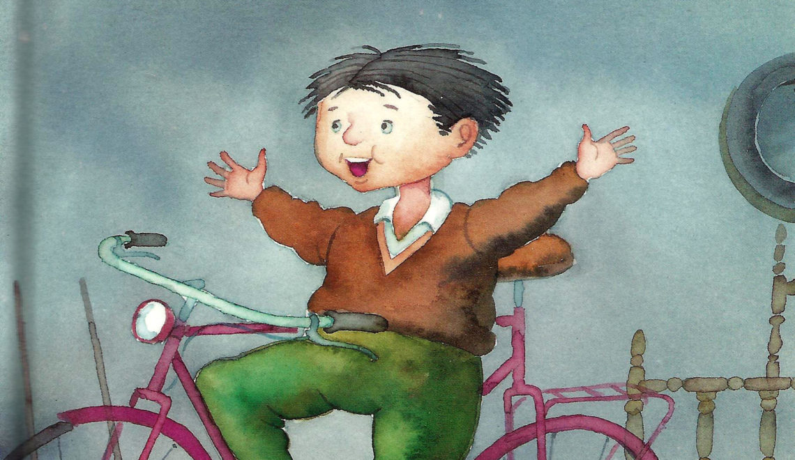 Lolo anda en bicicleta